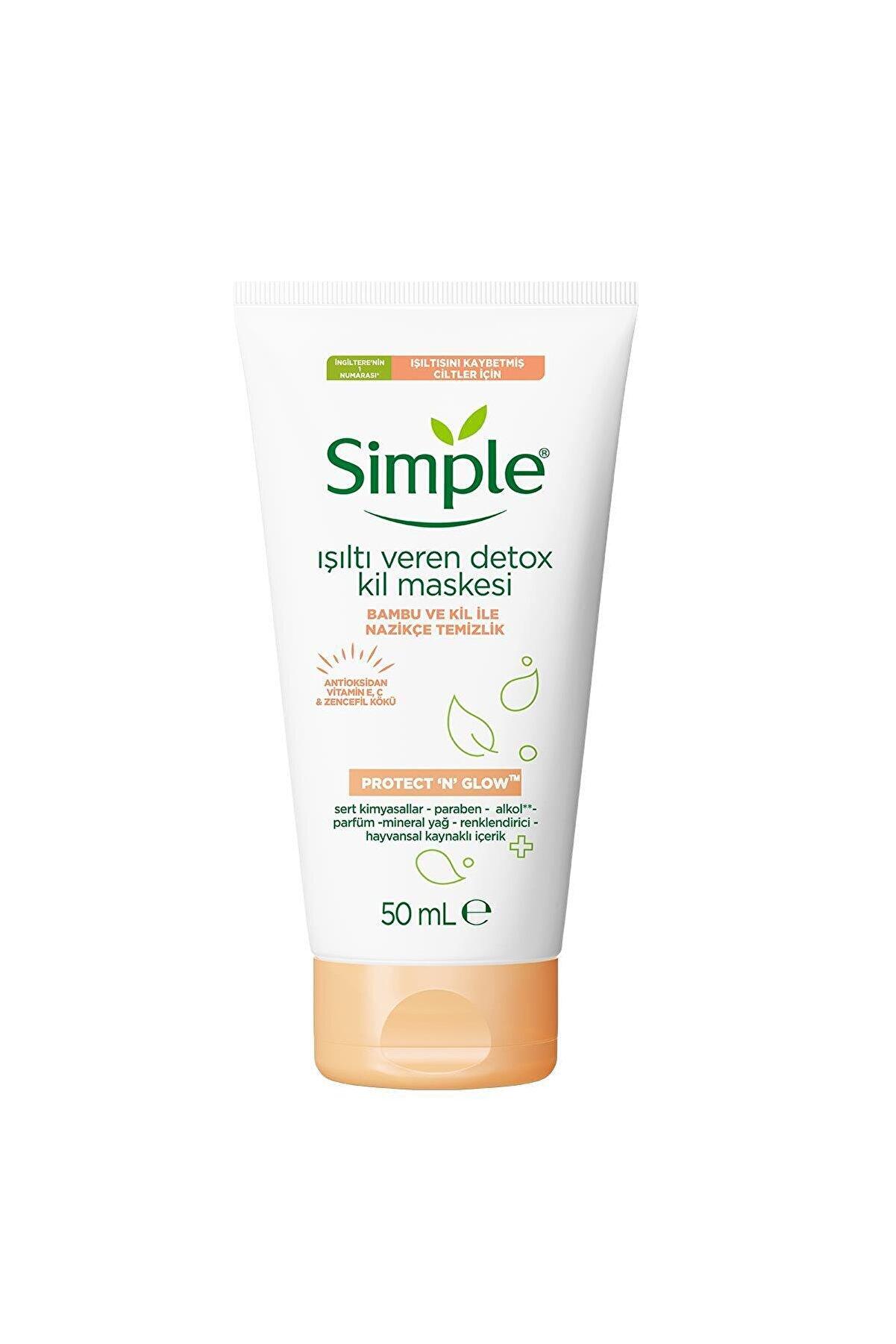 Simple Protect & Glow Kil Maskesi Detox Işıltı Veren 50 ml