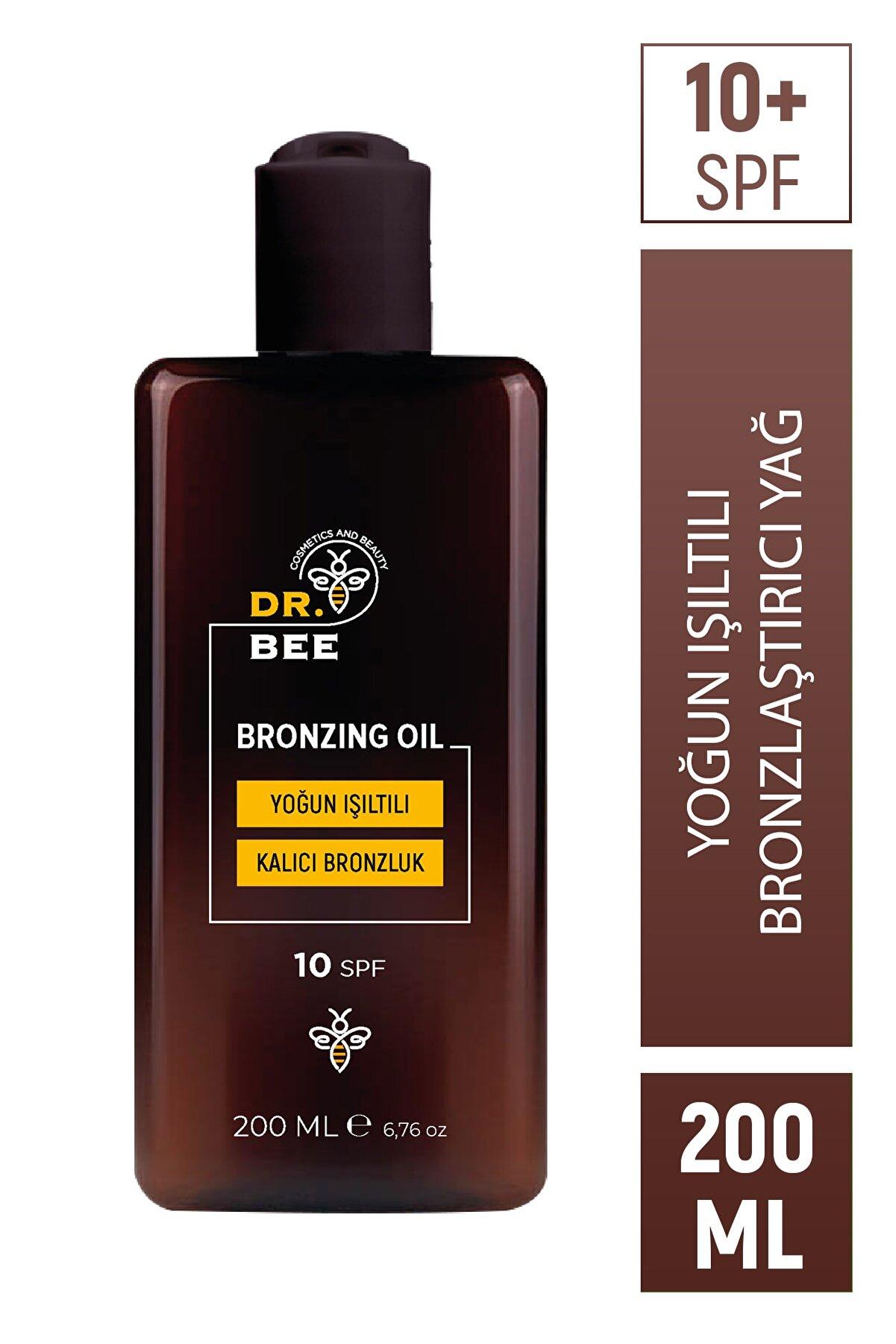 Dr.Bee Yoğun Işıltılı Bronzlaştırıcı Yağ Spf 10+