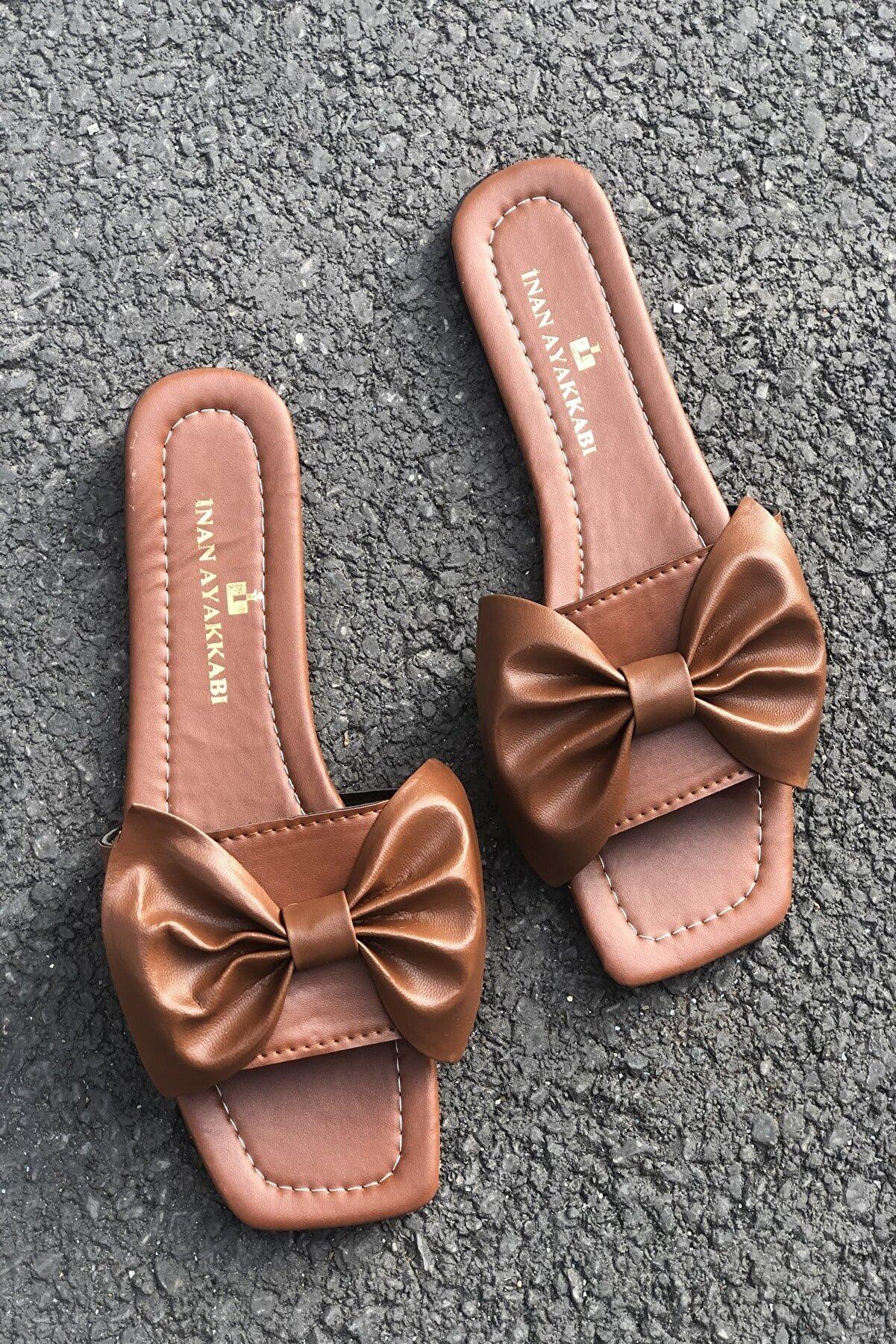 İnan Ayakkabı Kadın Fiyonk Detay Terlik