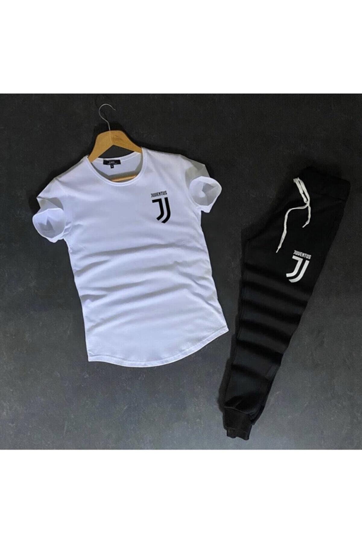 BAYMODA Erkek Beyaz Juventus Slimfit Alt-Üst Takım