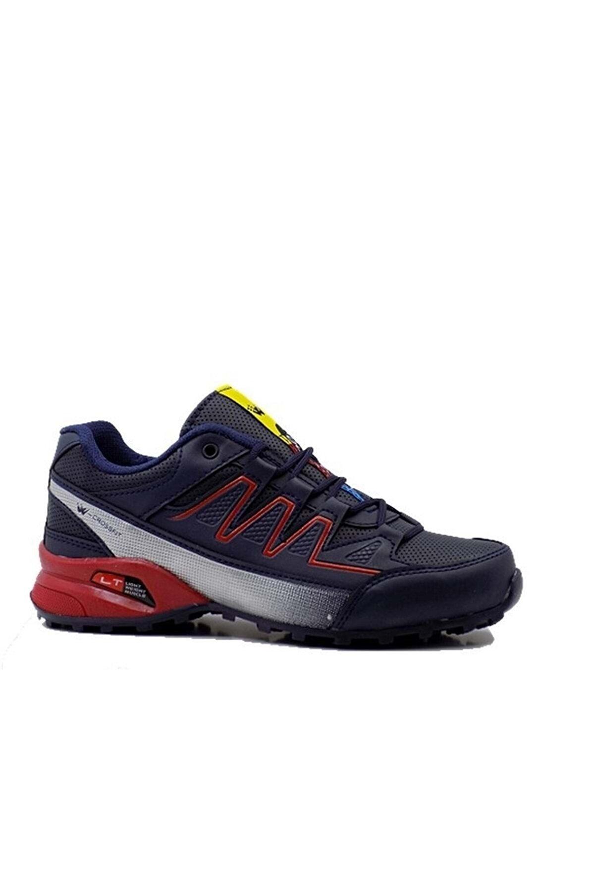 BİNAYAK Wanderfull - Unisex Spor Ayakkabı - 4078 - Lacivert-gümüş-kırmızı - 39