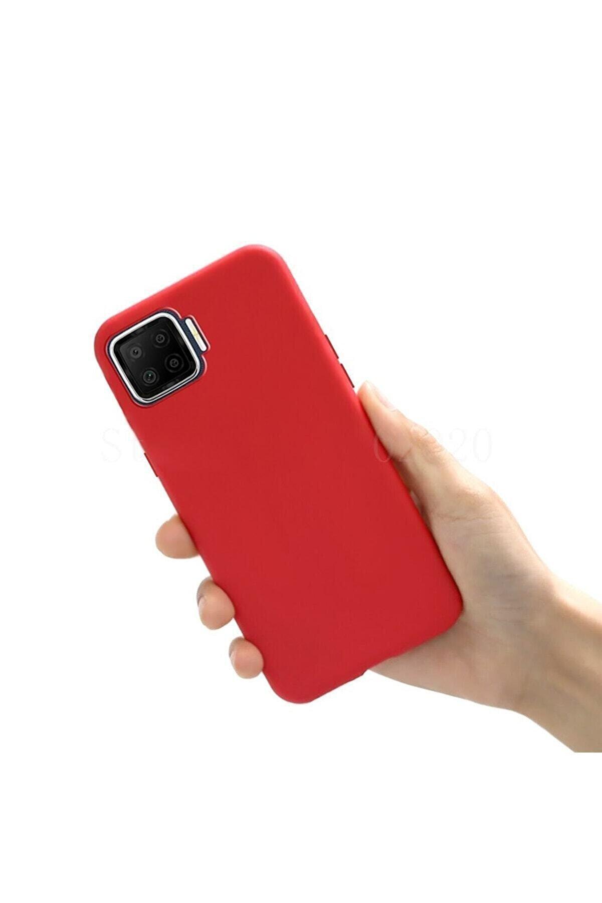 Oppo Reno 4 Lite A Kalite Içi Kadife Kırmızı Yumuşak Silikon Lansman Kılıf