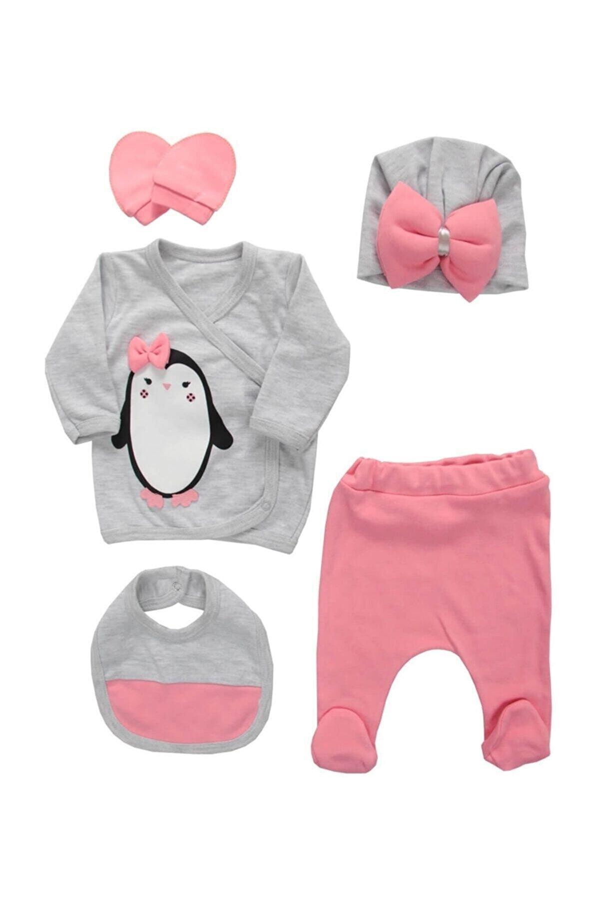 Nonna Baby Penguenli Kız Bebek 5 Li Hastane Çıkışı P1005651