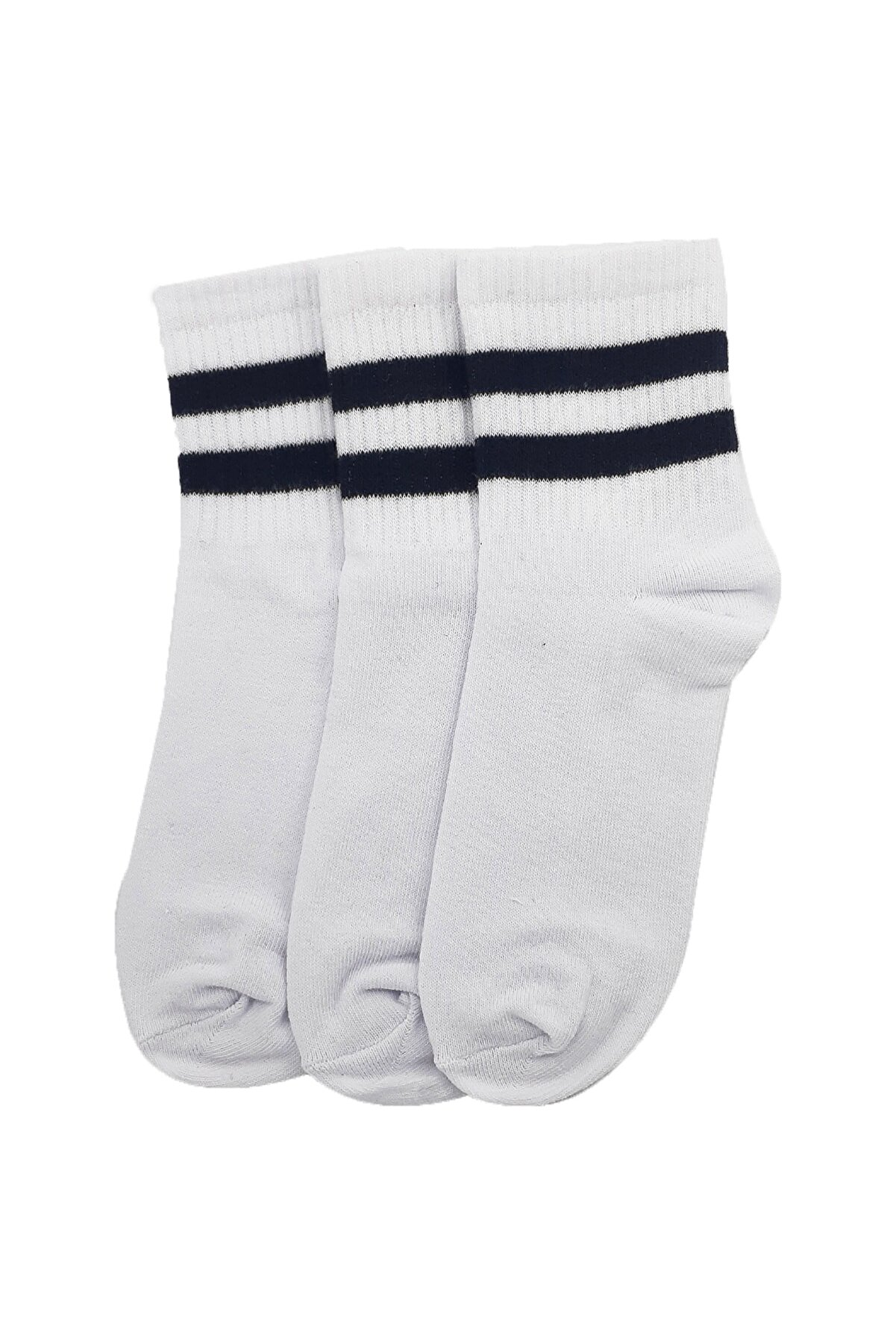 Shaka Beyaz No:11 3'lü Soket Unisex Kolej Çorap