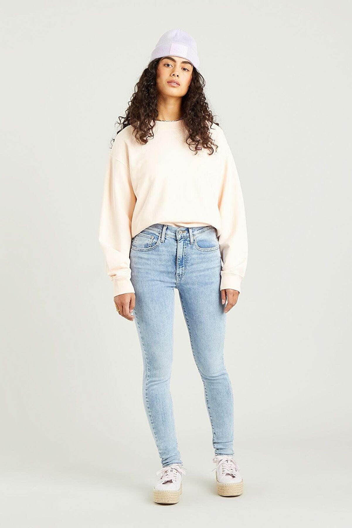 Levi's Kadın Açık İndigo Mile High Super Skinny Jean Pantolon Spill The Tea