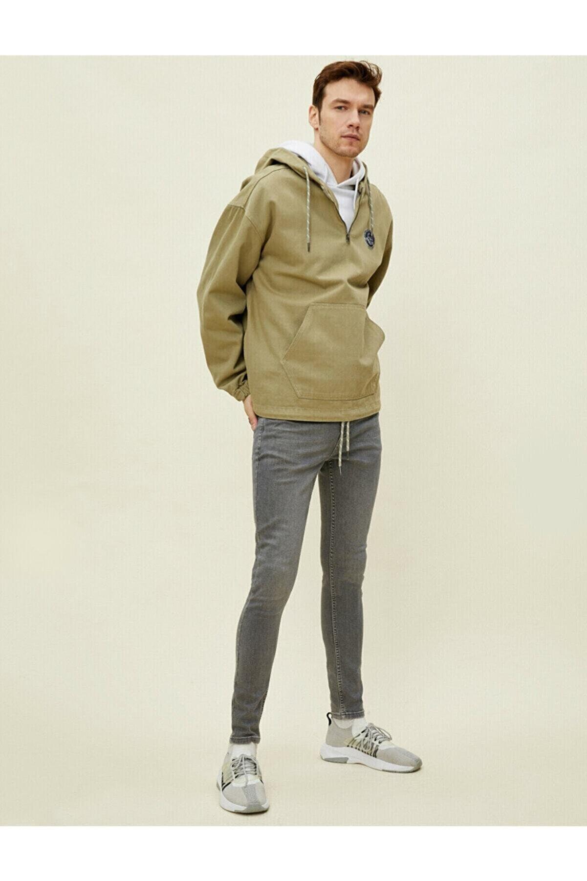 Koton Erkek Gri Justin Super Skinny Fit Jean Pantolon