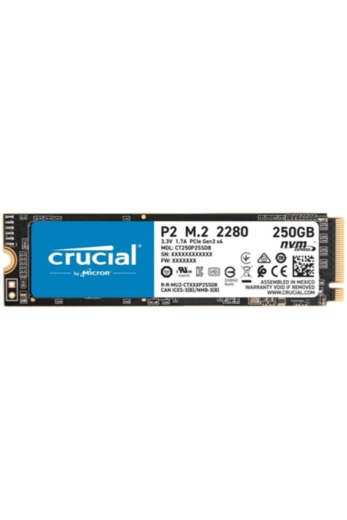 Crucial P2 250 Gb Ct250p2ssd8 2100-1150 Mb/s Nvme Pcıe M.2 Ssd