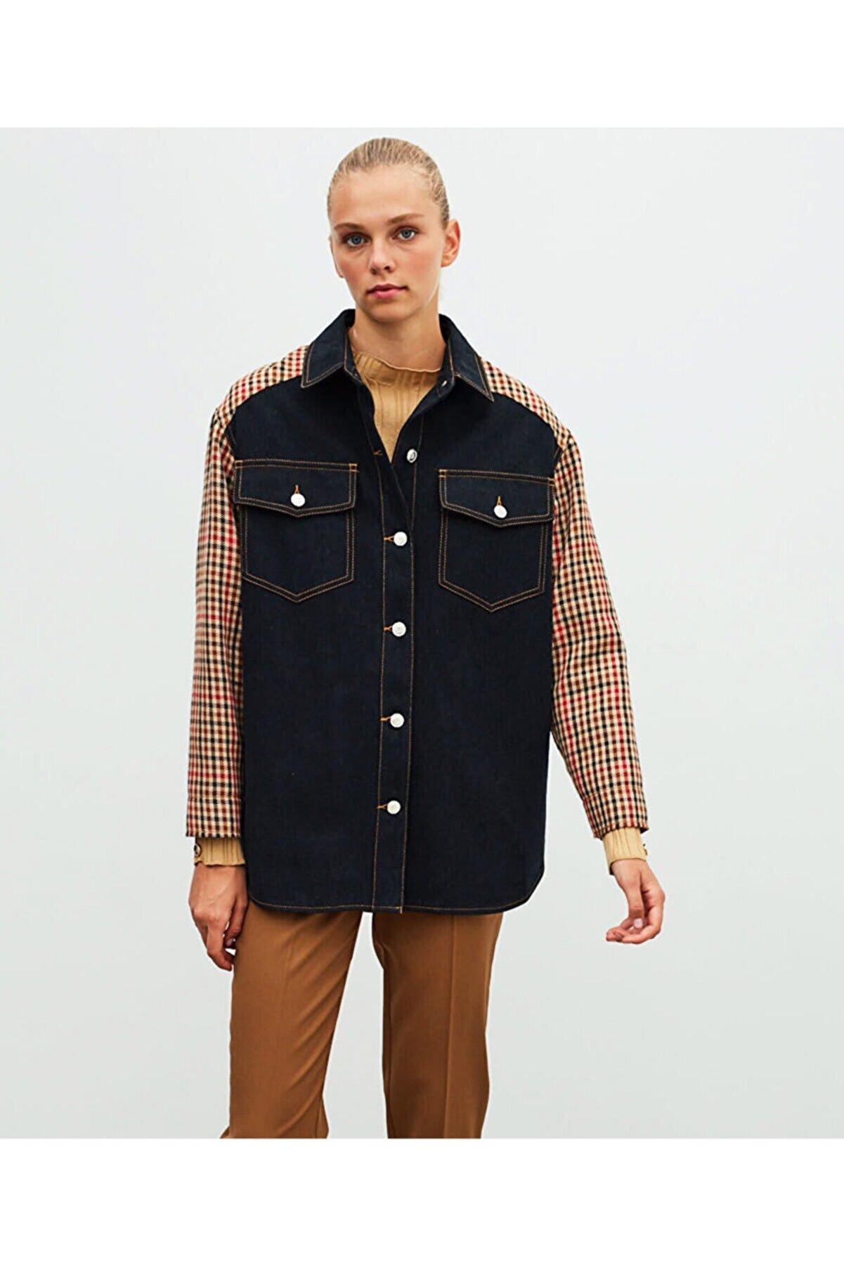 İpekyol Pötikare Desen Denim Ceket
