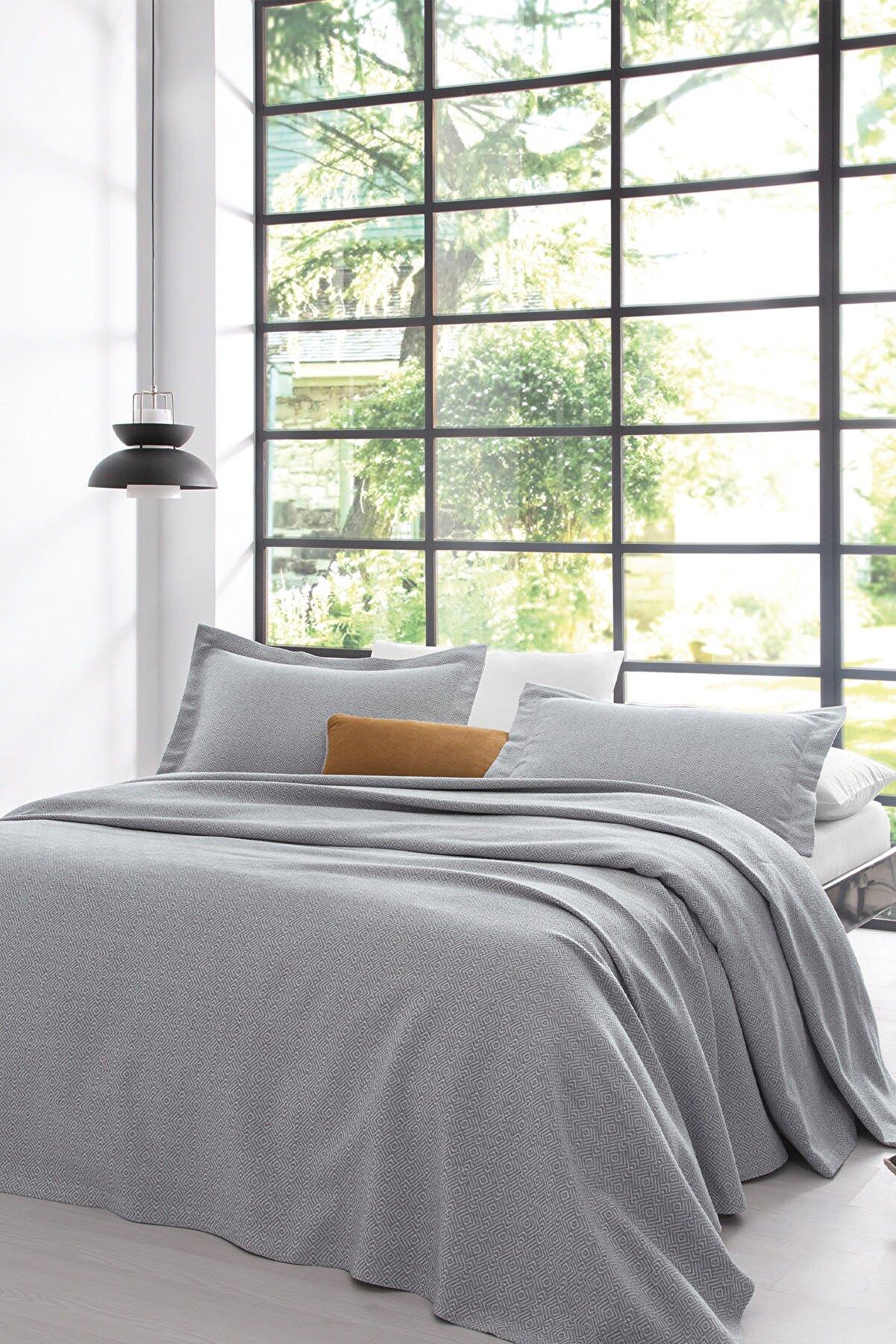 Yataş Bertin Çift Kişilik Yatak Örtüsü Seti Gri