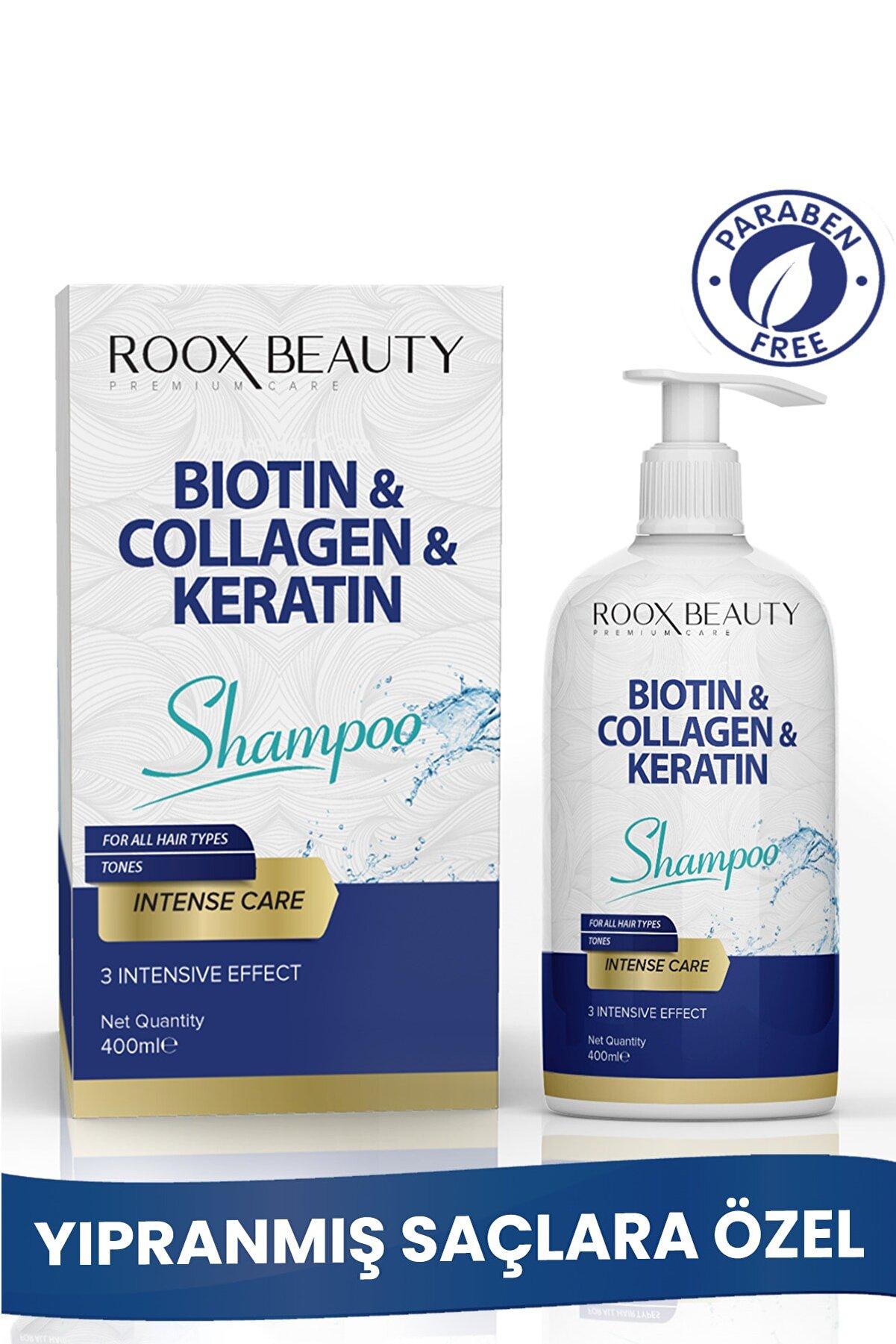 Roox Beauty Biotin - Kolajen - Keratin Katkılı Yıpranmış Saçlara Özel Bakım Şampuanı 400 ml