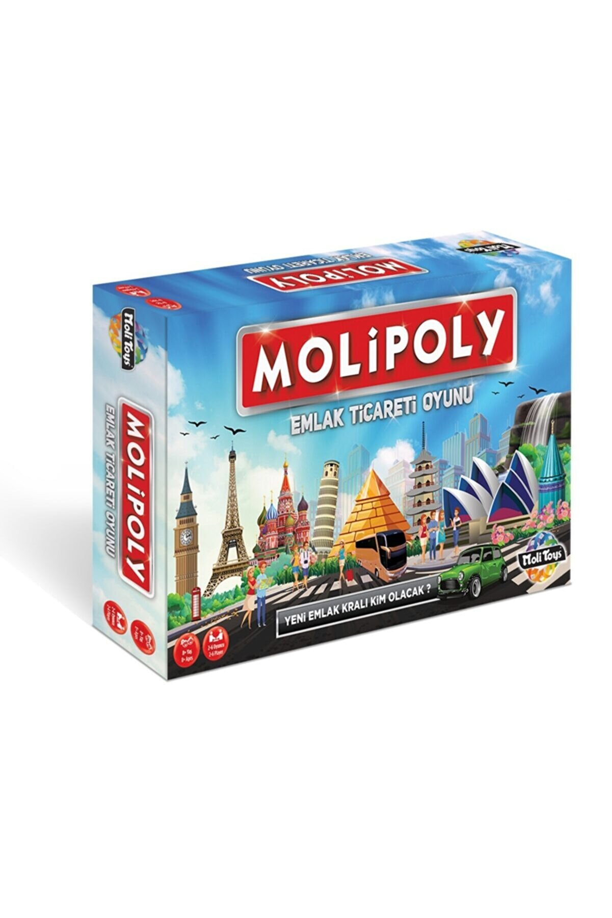 Moli Toys Molipoly Monopoly Monopoli Metropol Mega City Emlak Ticaret Oyunu Aile Oyunu Yeni Model