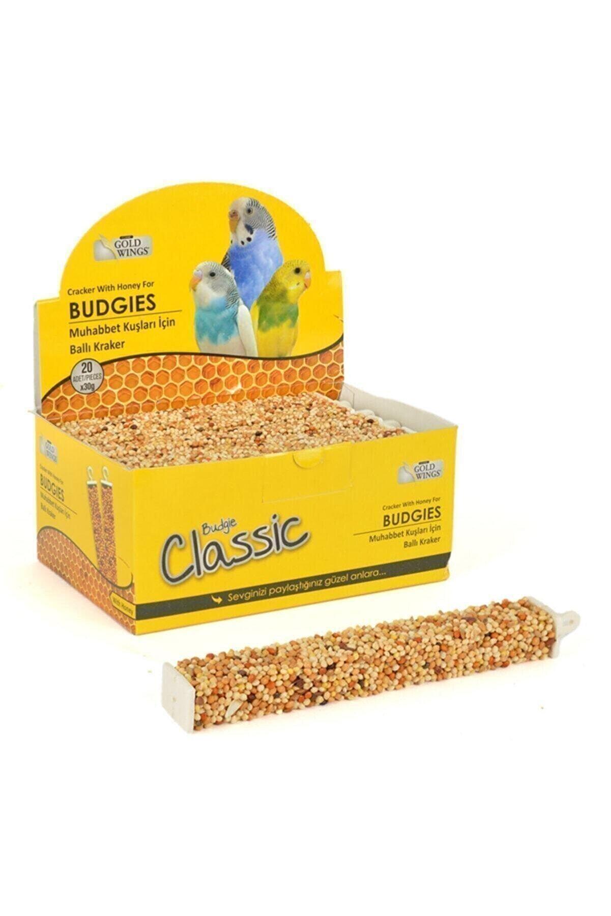 Gold Wings Muhabbet Kuşları Için Ballı Tava Kuş Krakeri Kutuda 20 Adet Kraker