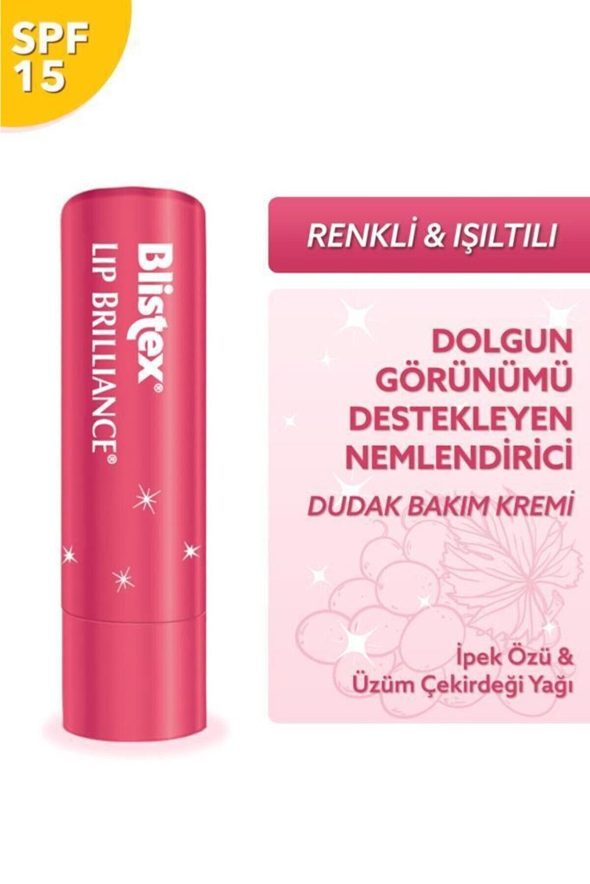 Blistex Renk Ve Işıltı Etkili Nemlendirici Spf15 - Lip Brilliance Spf15 3,7 G