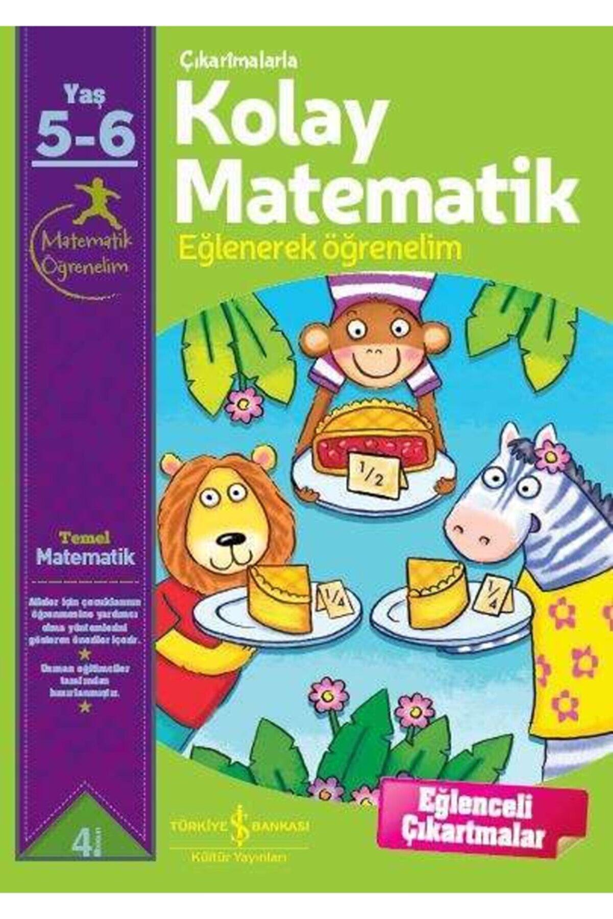 İş Bankası Kültür Yayınları Çıkartmalarla Kolay Matematik (5 - 6 YAŞ)