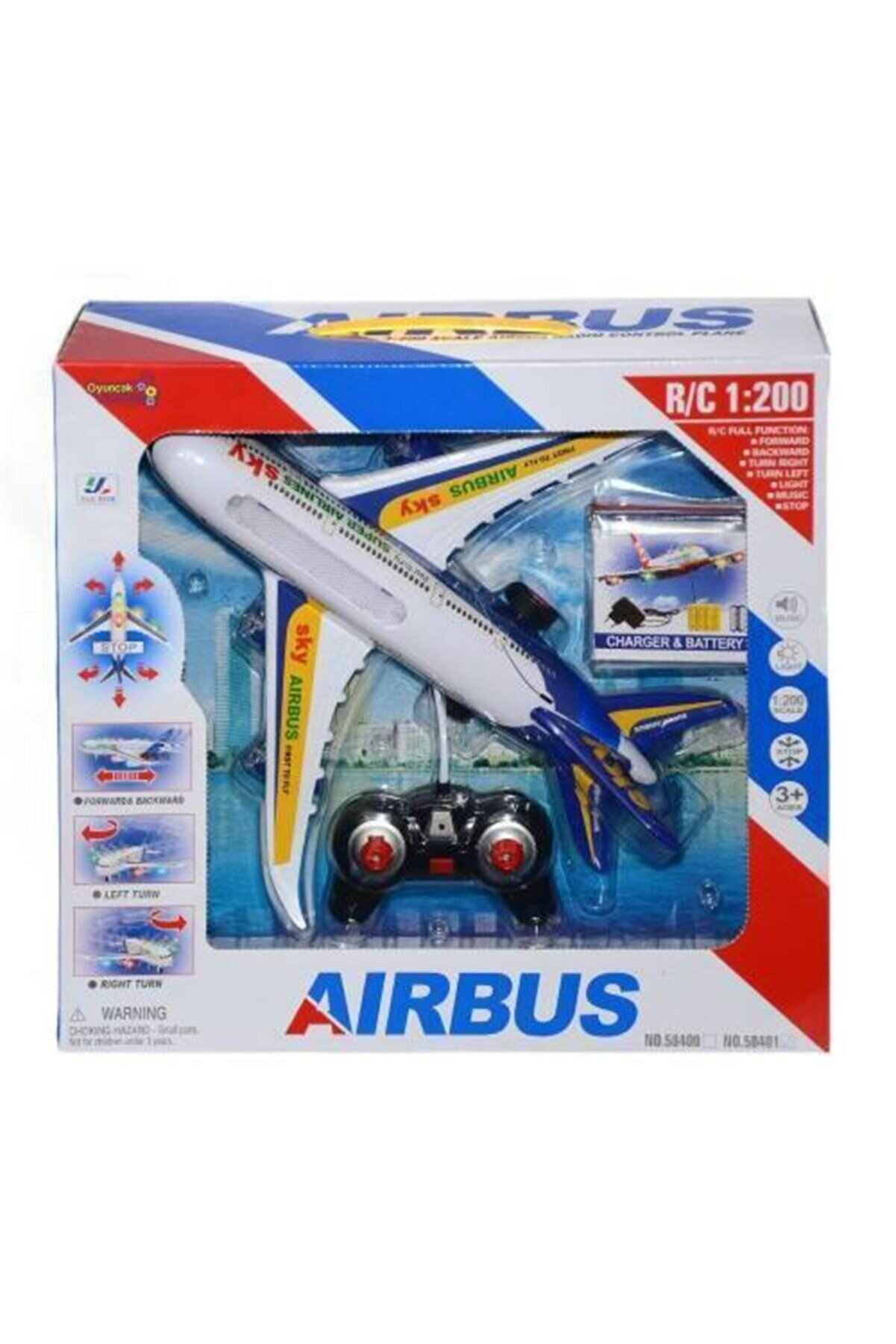 AKN Uzaktan Kumandalı Uçak Şarjlı Işıklı Sesli