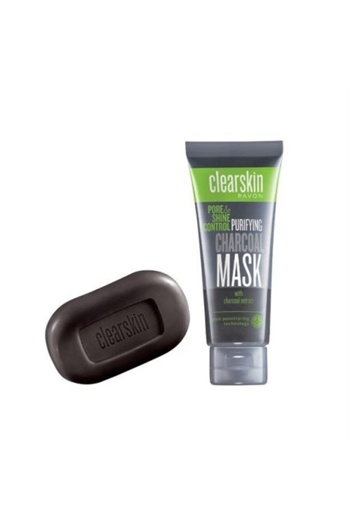 Avon Clearskin Kömür Içeren Maske Ve Sabun