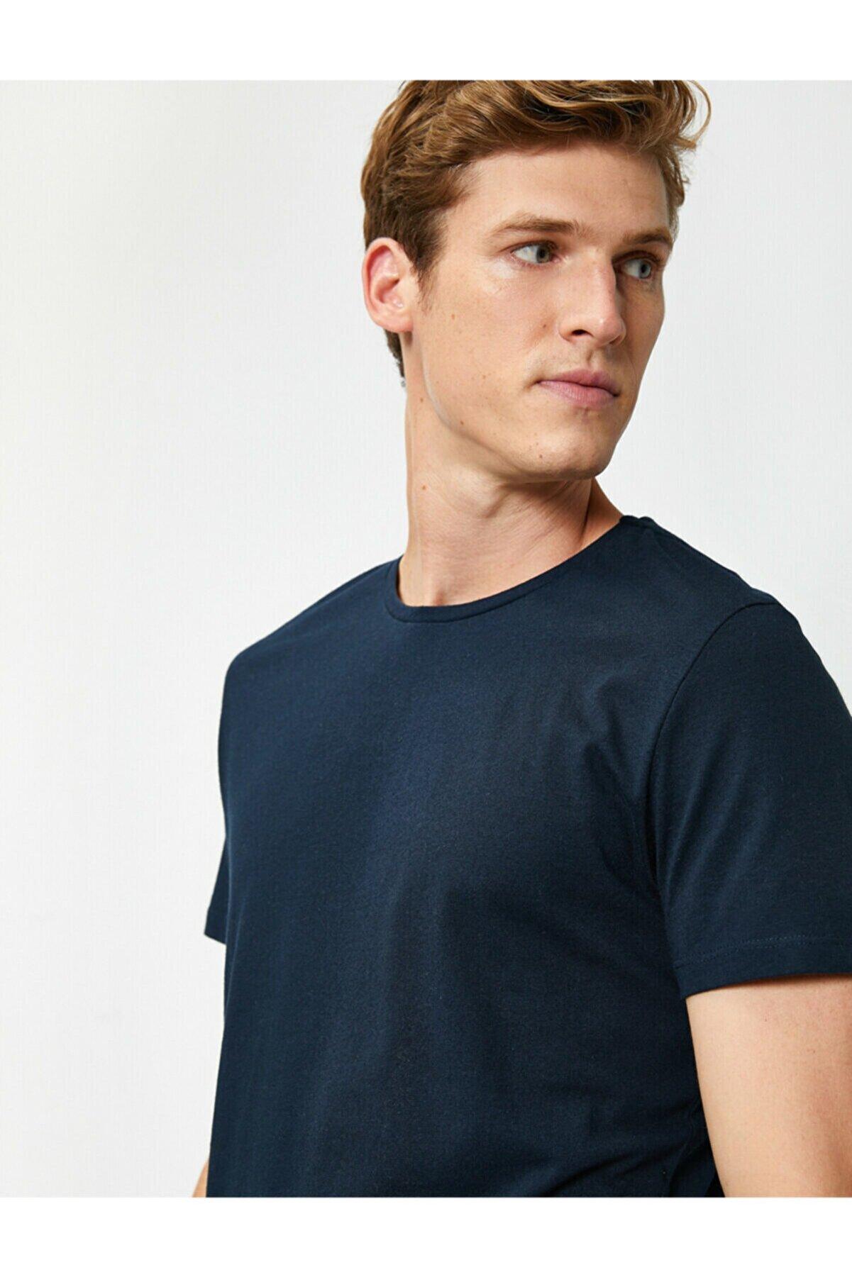 Koton Erkek Lacivert T-Shirt 1KAM12136LK