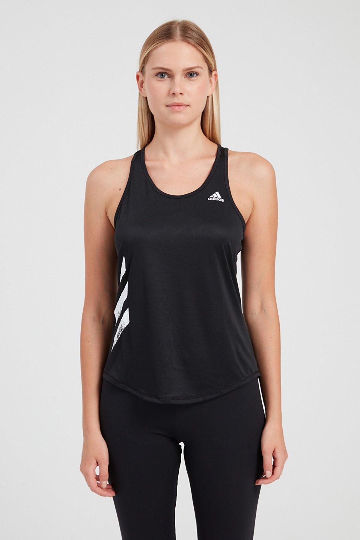adidas RUN IT TANK 3S Siyah Kadın Kolsuz T-Shirt 101069138