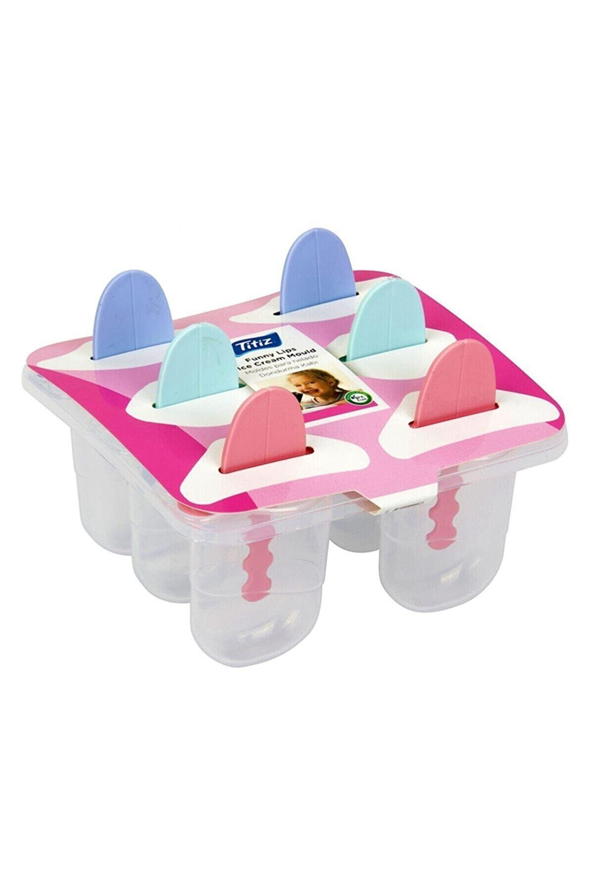 Titiz Çubuklu Dondurma Yapma Kalıp Kap Kase 6 Lı Dondurma Kalıbı