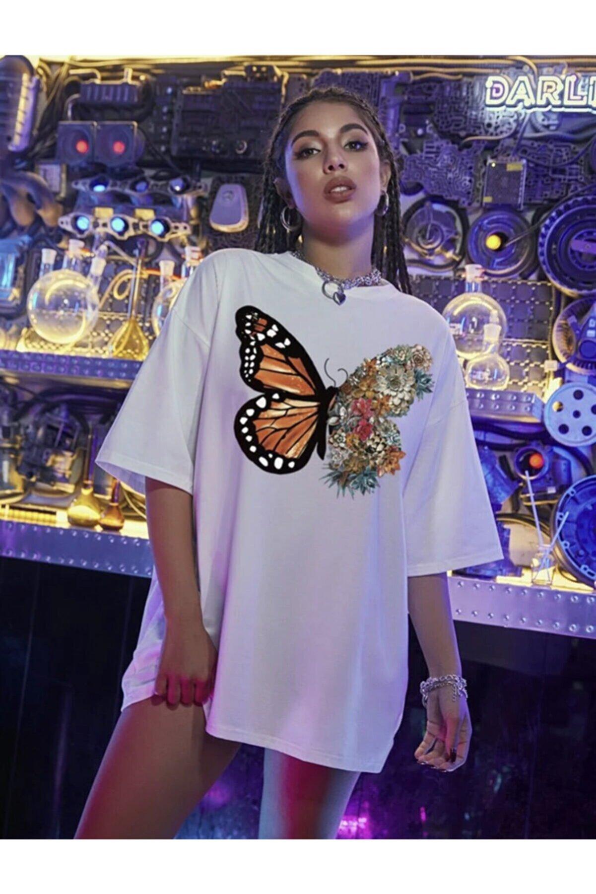 Leprikon Kadın Beyaz Baskılı Tshirt (k)