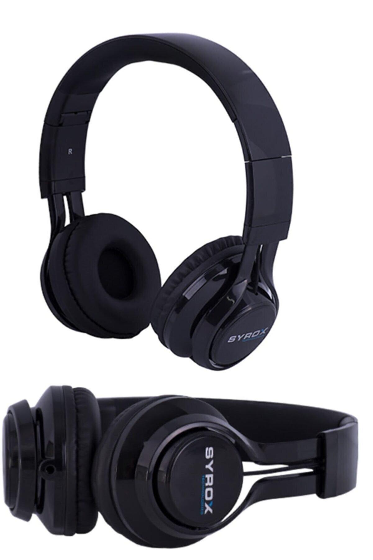 Syrox Kulaküstü Mikrofonlu Aux Kablolu Kulaklık