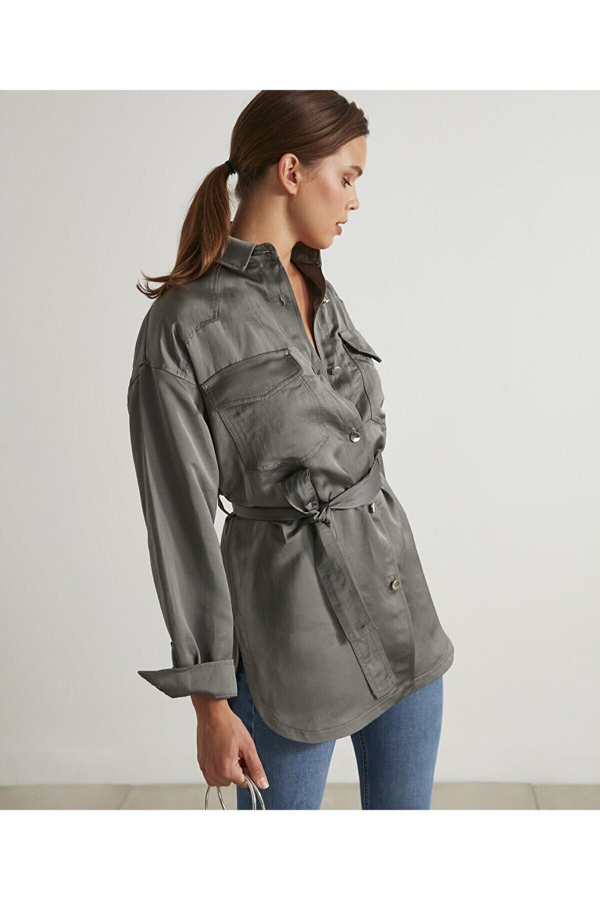 İpekyol Keten Karışımlı Gömlek Ceket