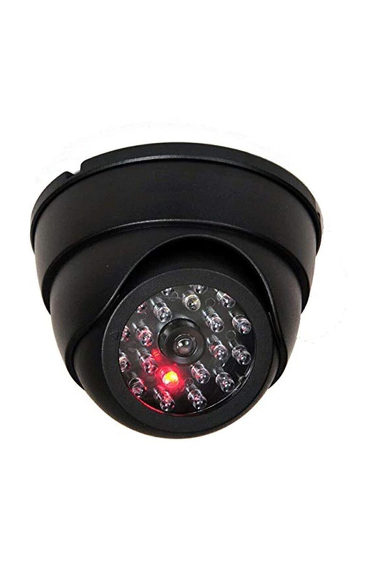 checkmate Led Işıklı Dome Sahte Güvenlik Kamerası Taklit Sensörlü Hırsız Ev