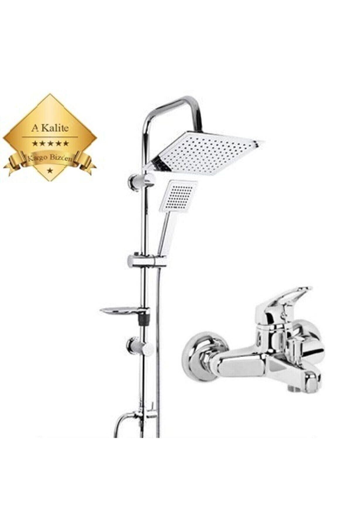 Beyazsu Dubai Duş Seti, Krom Batarya Tepe Yağmurlama Duş Seti Robot Batarya