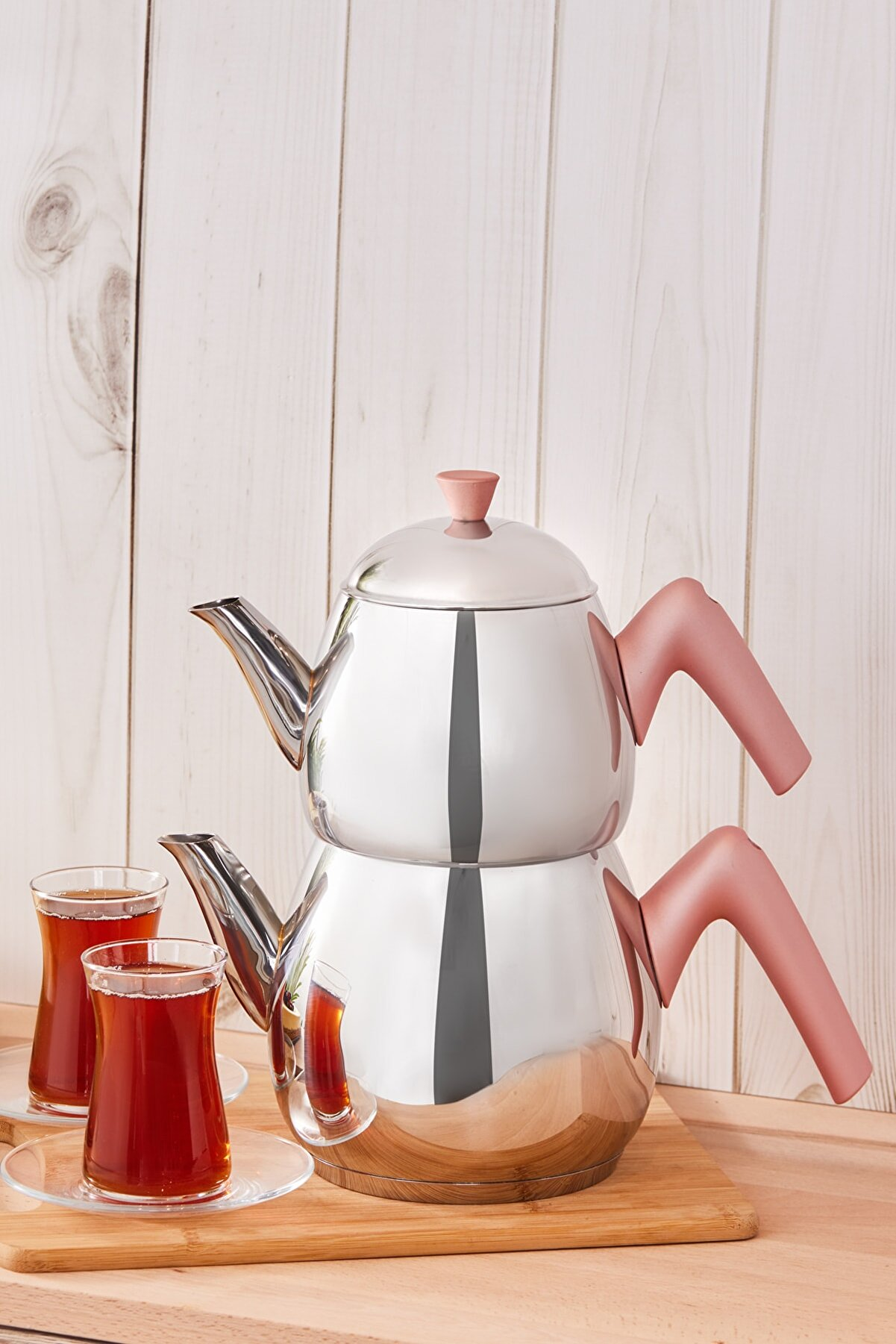 Karaca Merkür Medium Rose Çaydanlık Takımı