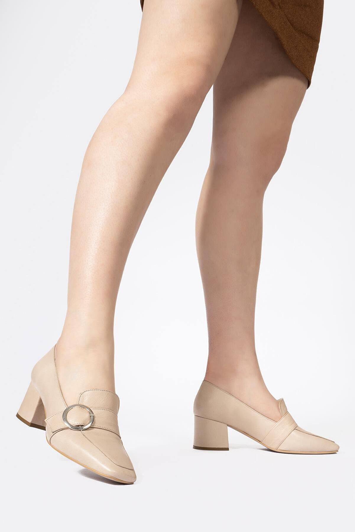 CZ London Kadın Kalın Topuklu Ayakkabı