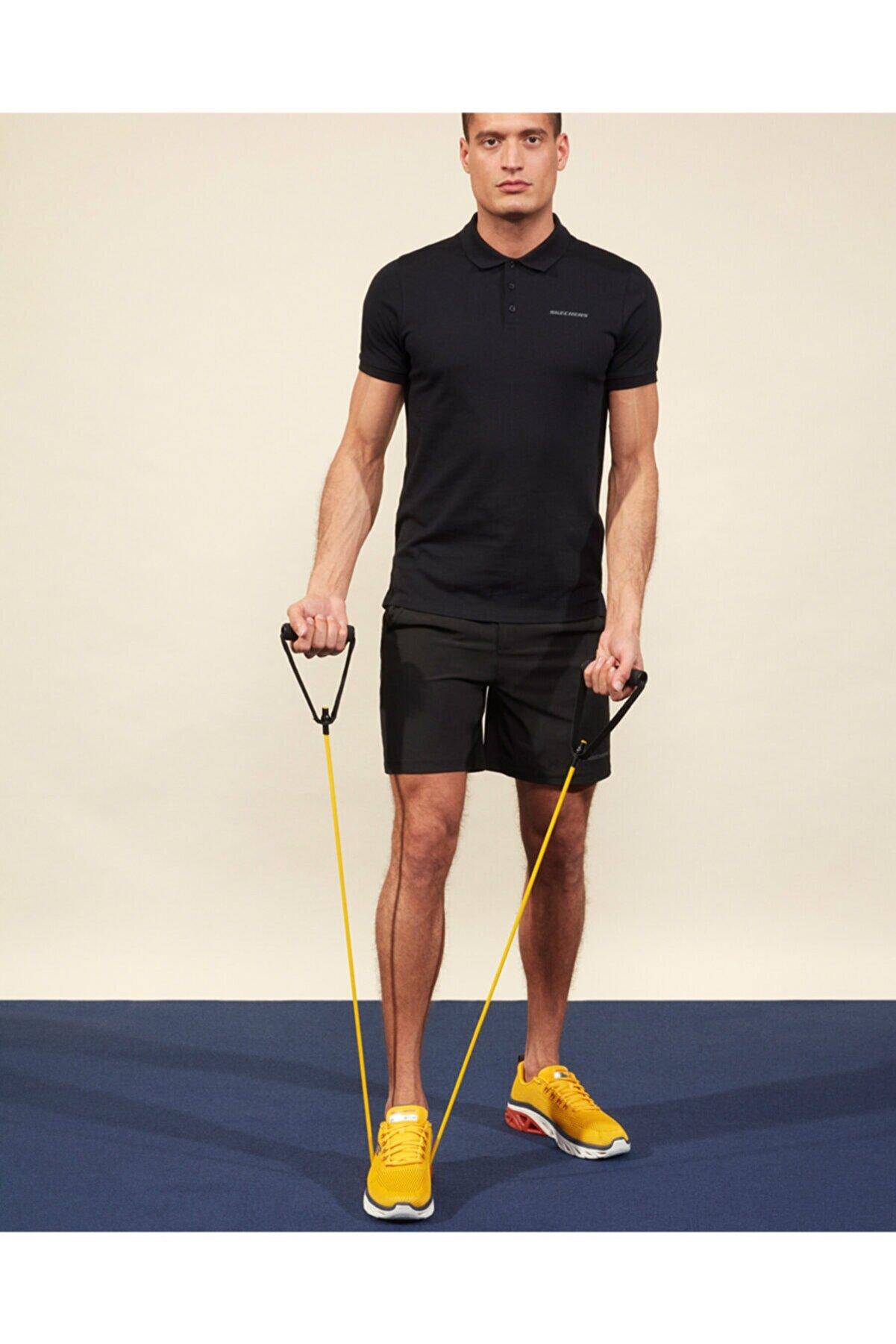 Skechers Polo M Short Sleeve Polo Erkek Siyah Polo Yaka Tshirt