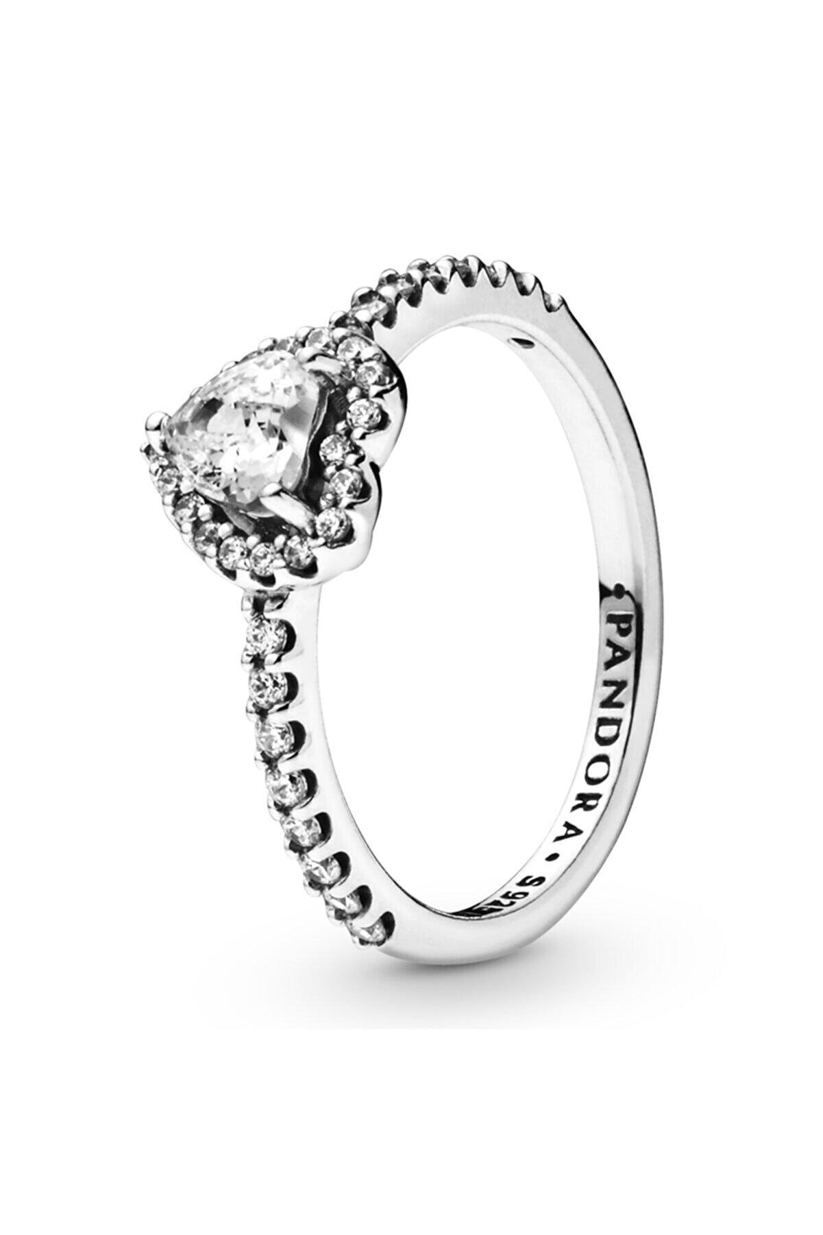 Pandora Asil Kalp Gümüş Yüzük