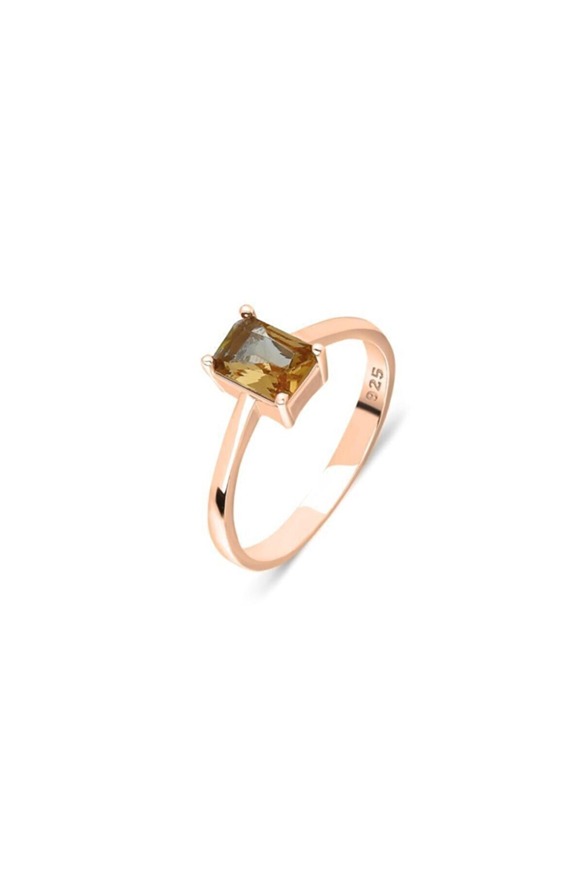 Aykat Roze Gümüş Yüzük Zultanit Taşlı Kadın Yüzüğü Yzk-353