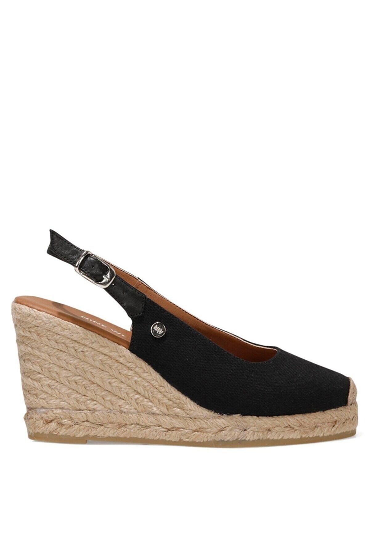 Nine West PUJICO 1FX Siyah Kadın Dolgu Topuklu Sandalet 101029352