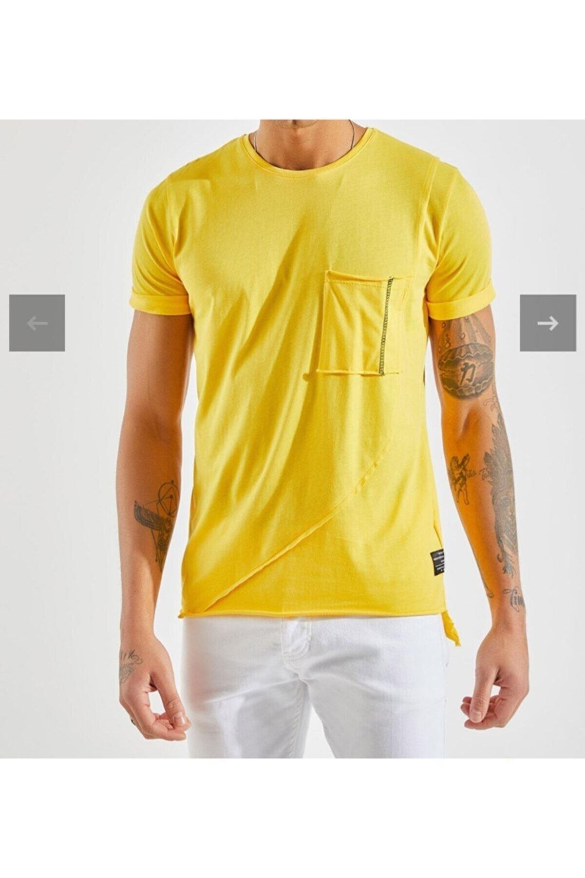 DURAN Erkek Man 2021 Model Sarı T-shirt