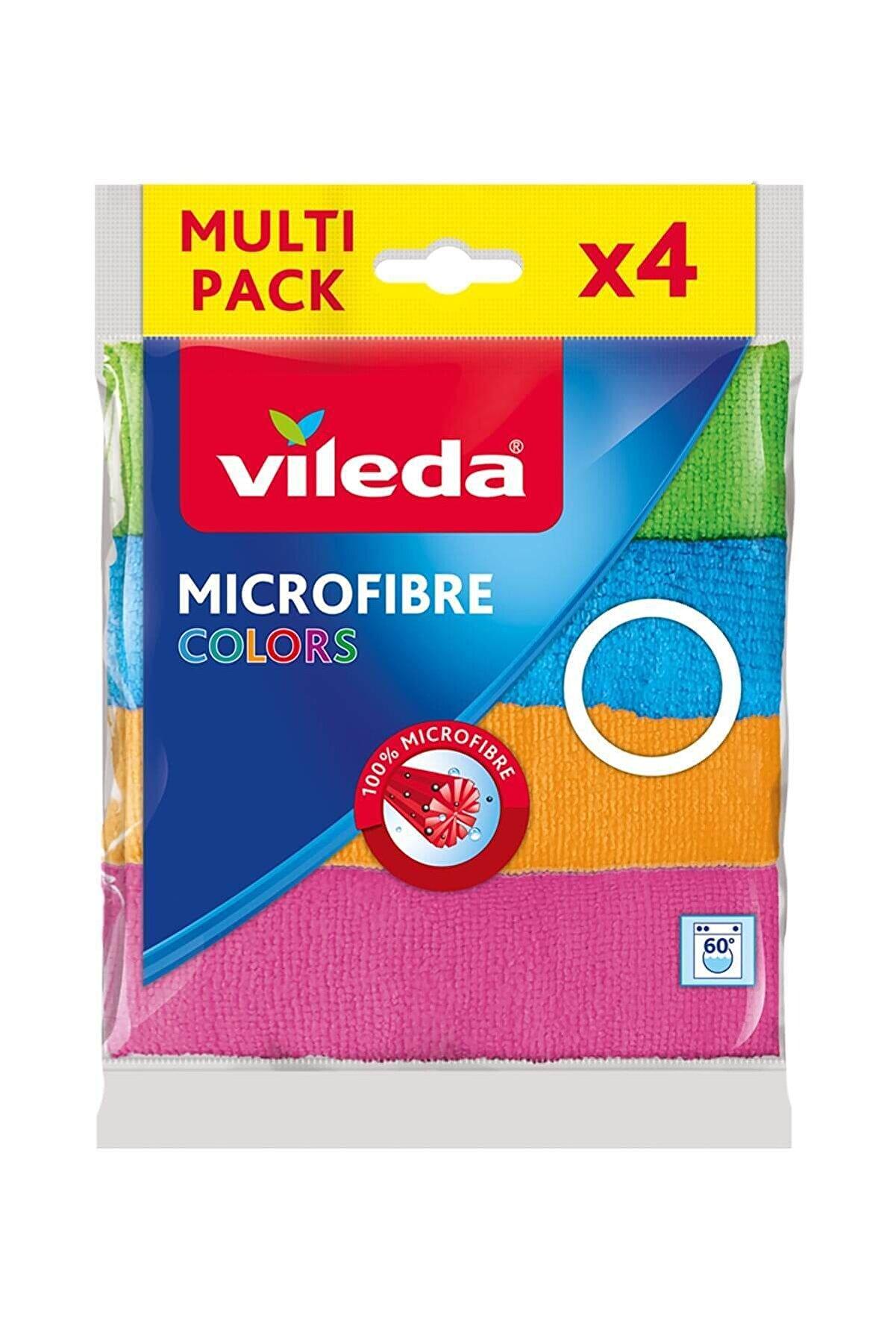 Vileda Mikrofiber Colors Bez 4'lü