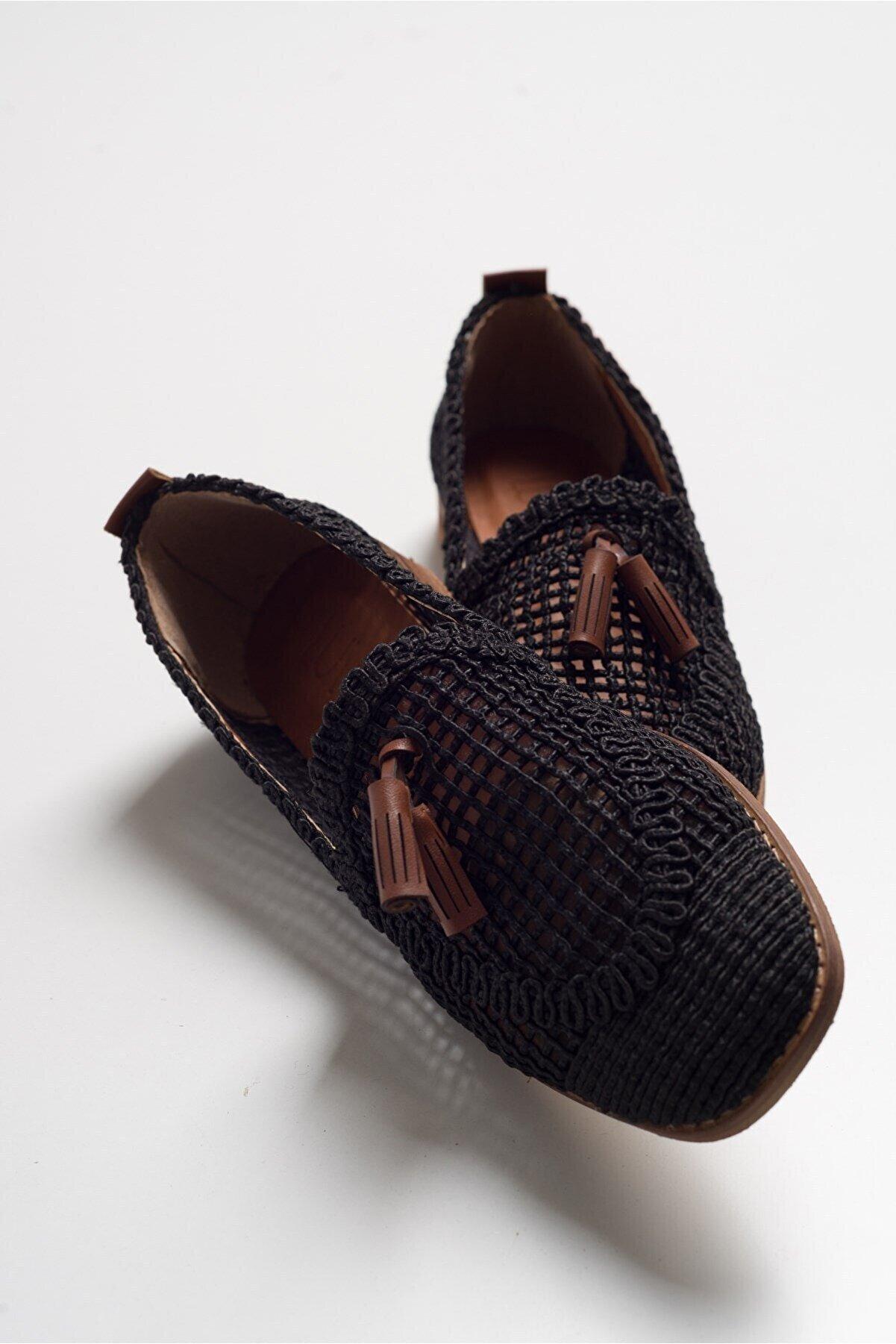luvishoes Kadın Siyah  Babet Ayakkabı