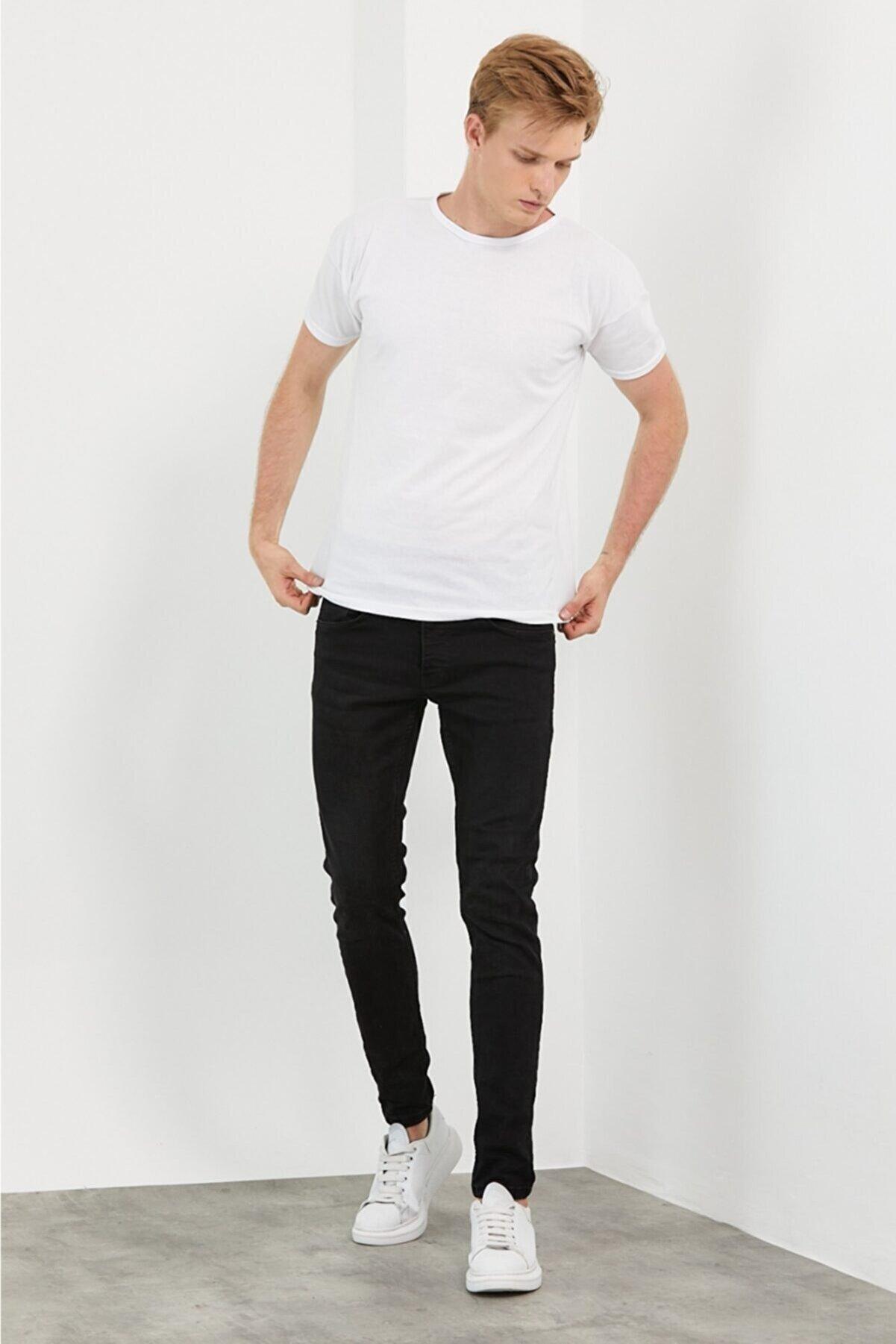 LEVEL HİGH Regular Sade Beyaz T-shirt