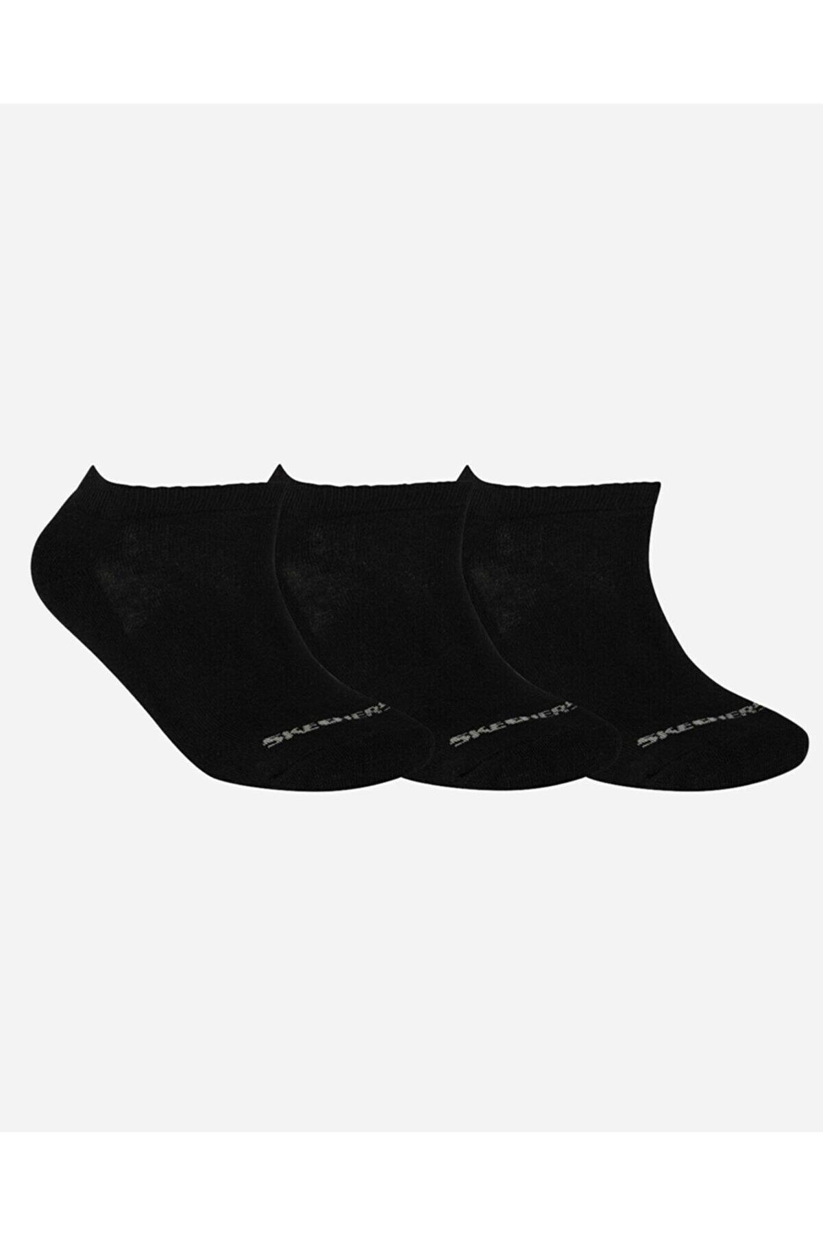 Skechers U SKX Padded Low Cut Socks 3 Pack Unisex Siyah Çorap