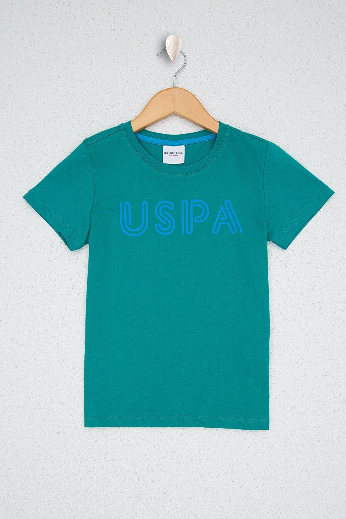 US Polo Assn Yesıl Erkek Çocuk T-Shirt
