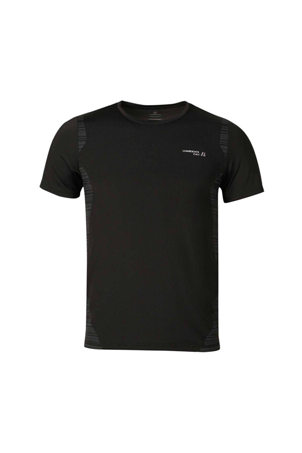 Lumberjack CT452 DALE T-SHIRT Siyah Erkek T-Shirt 100582756