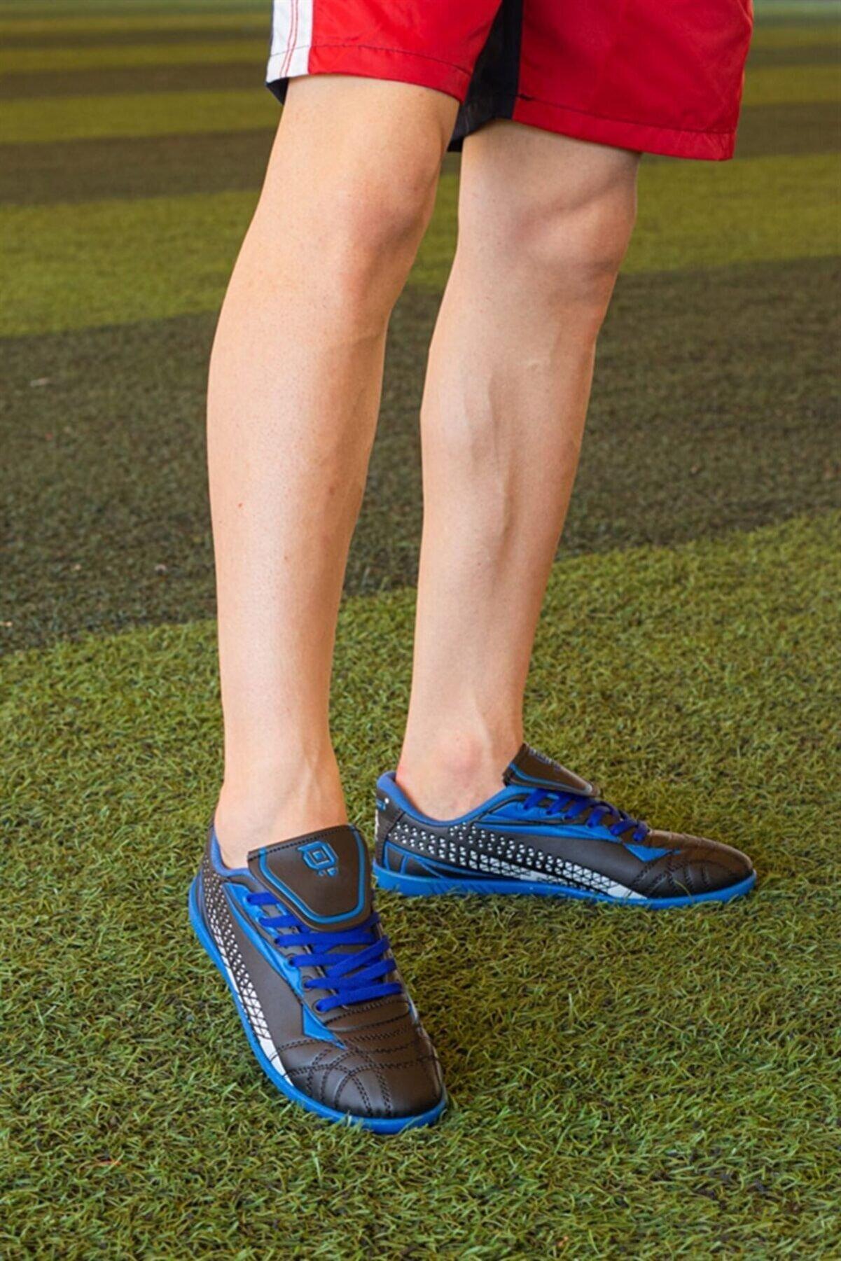 WOVS Erkek Halı Saha Ayakkabısı Mavi
