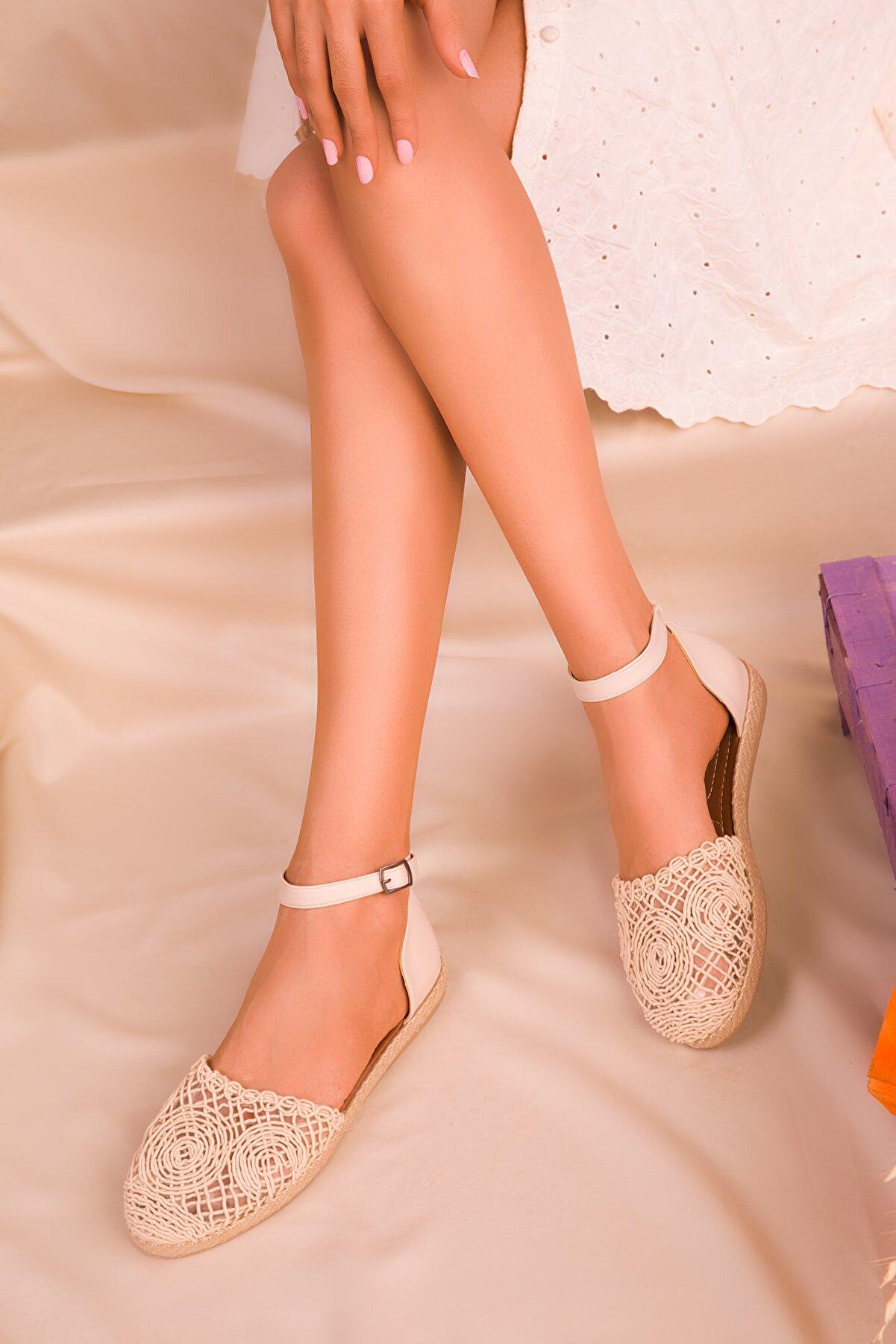 Soho Exclusive Bej-Ten Kadın Sandalet 15046