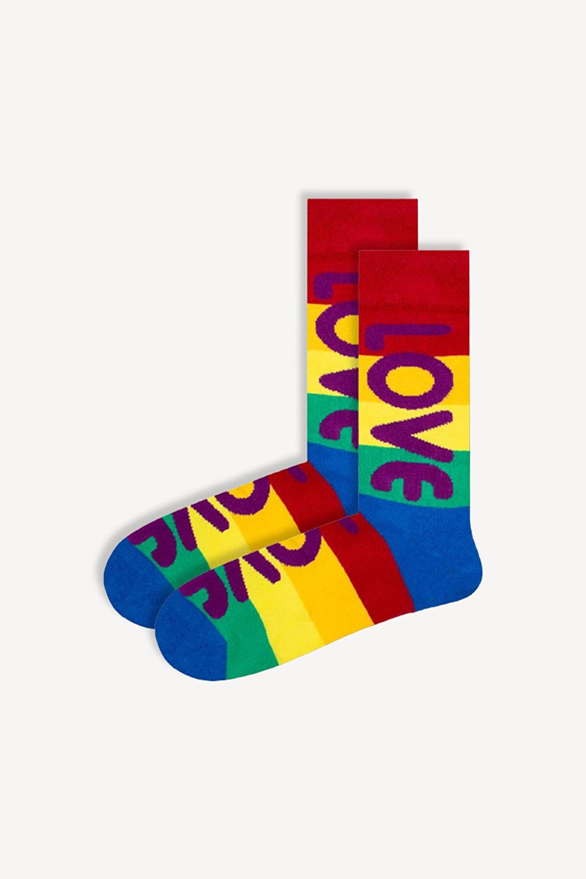 Socks Garage Tekli Desenli Renkli Çorap