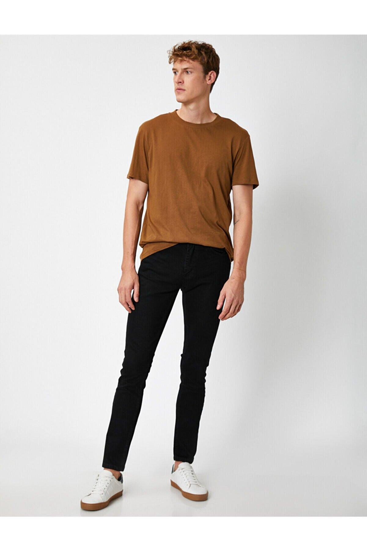 Koton Erkek Siyah Michael Skinny Fit Jean Pantolon