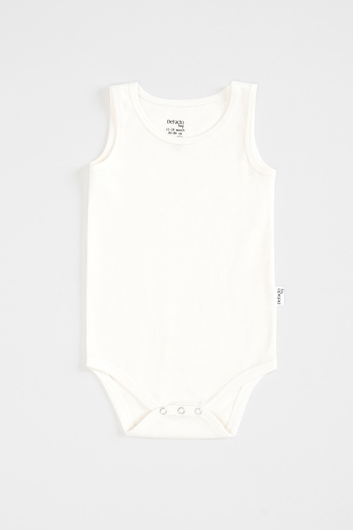 Defacto Erkek Bebek Kısa Kolsuz Çıtçıtlı Body