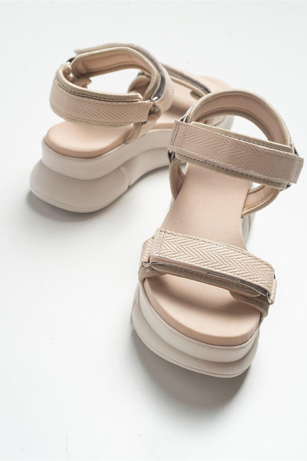 luvishoes 4760 Bej Kadın Sandalet