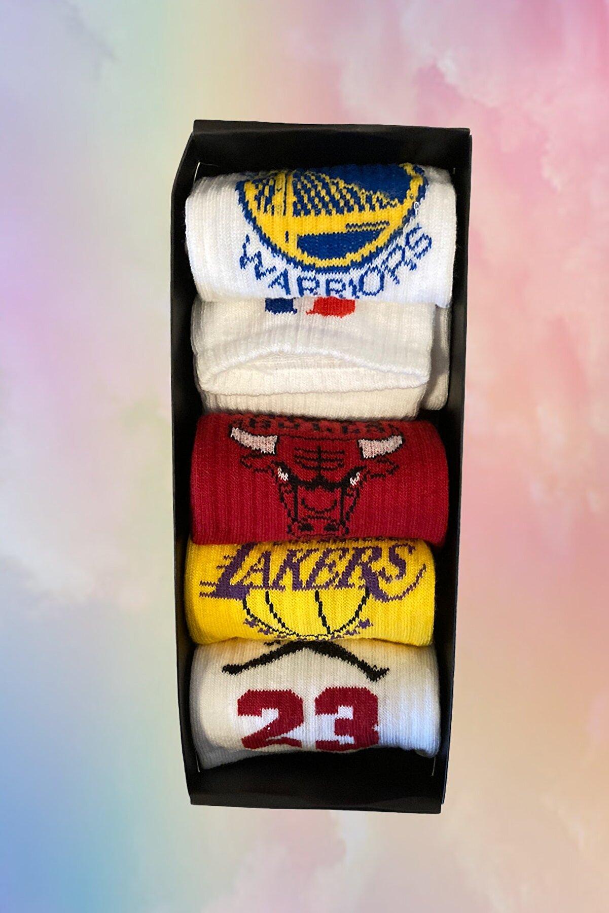 Neşeli Çoraplar 5'li Efsane Basket Set