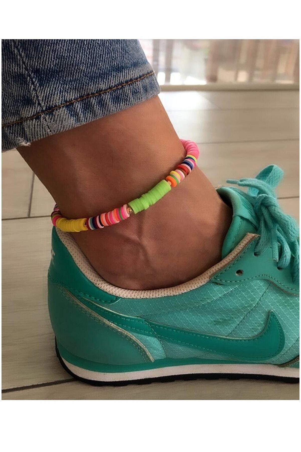 Serpil Jewellery Kadın Neon Renkli Polymer Halhal