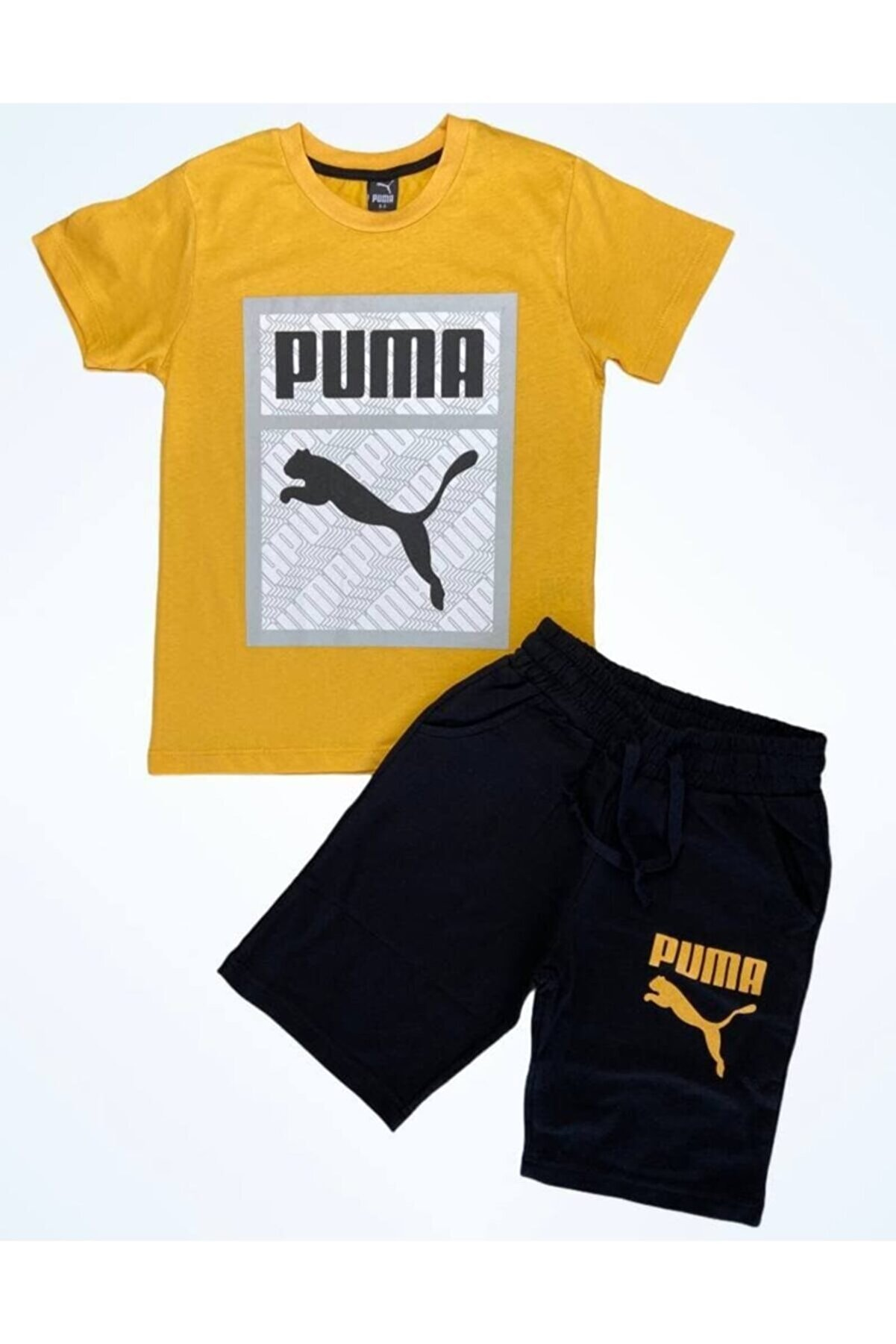 Puma Erkek Çocuk Şortlu Penye Takım